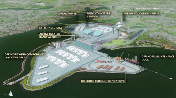 Ex-Coal Plant Site Chosen for Offshore Wind Hub